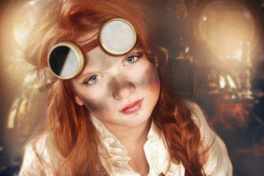 redhead dirty girl steampunk
