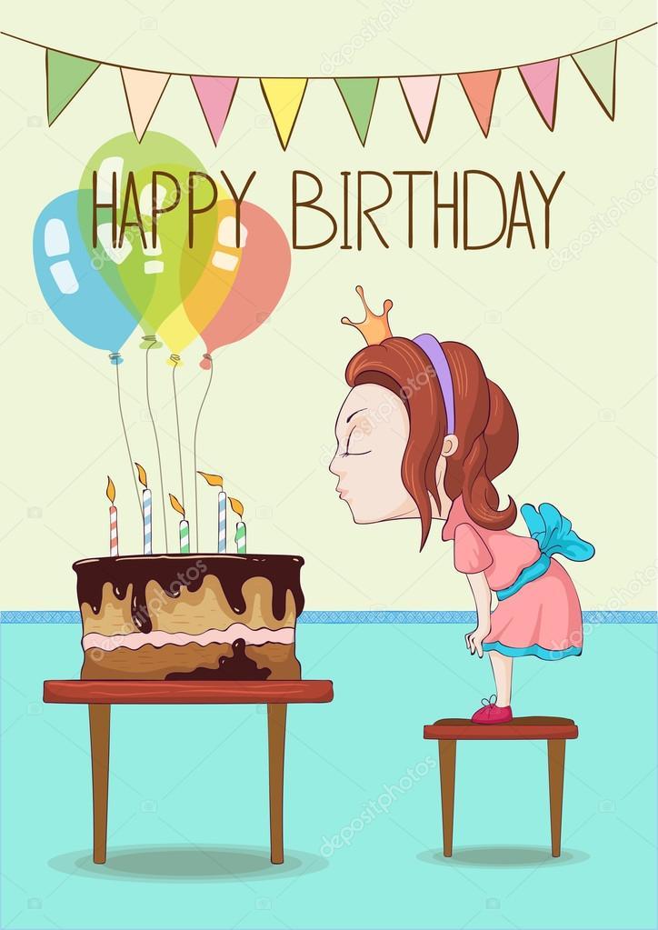 přání k narozeninám pro holčičku přání k narozeninám s malou holčičku — Stock Vektor © Dmod #123836462 přání k narozeninám pro holčičku