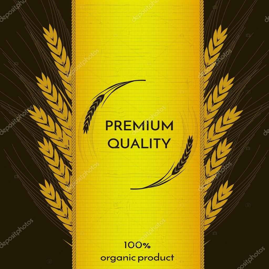 wheat spica image on the edges and in the center. logo