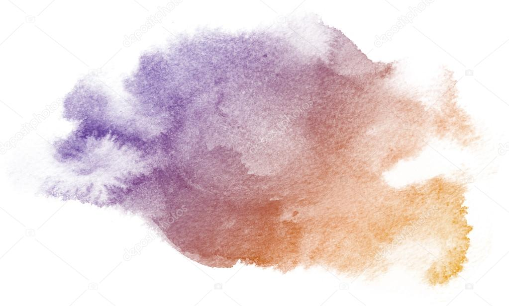Abstract Purple Watercolor Background Stock Photo
