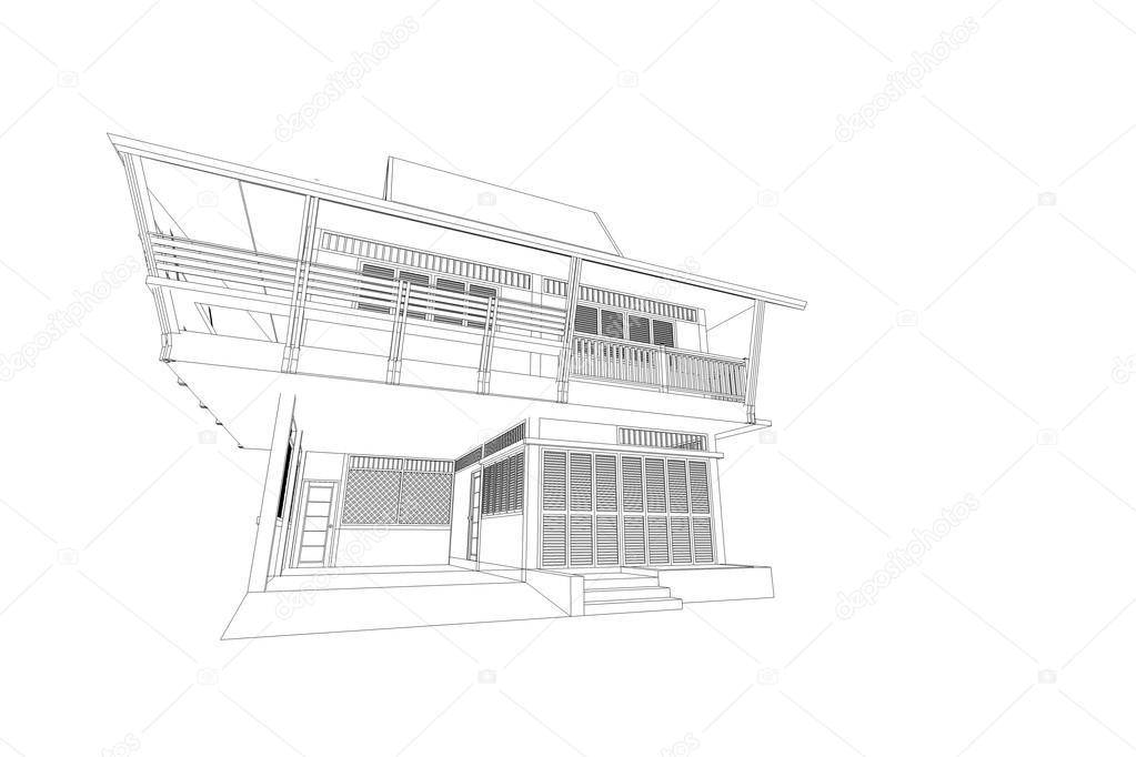 Abstrakt architektur zeichnung stockfoto artintercool 115981124 - Architekturzeichnung lernen ...