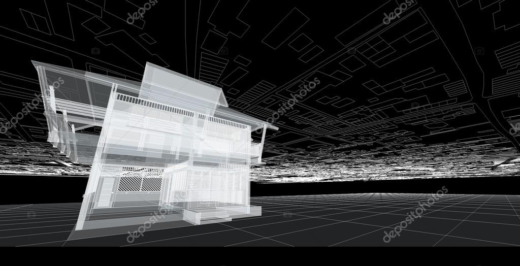 Abstract Architecture Drawing Stock Photo 115981364