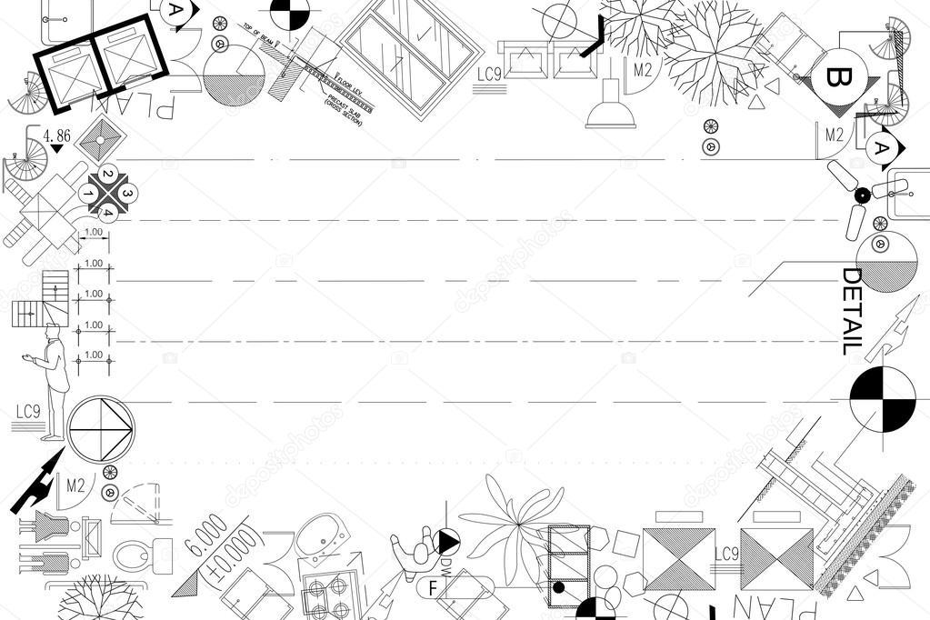 Architektur Zeichnungsrahmen — Stockfoto © artintercool #115983766