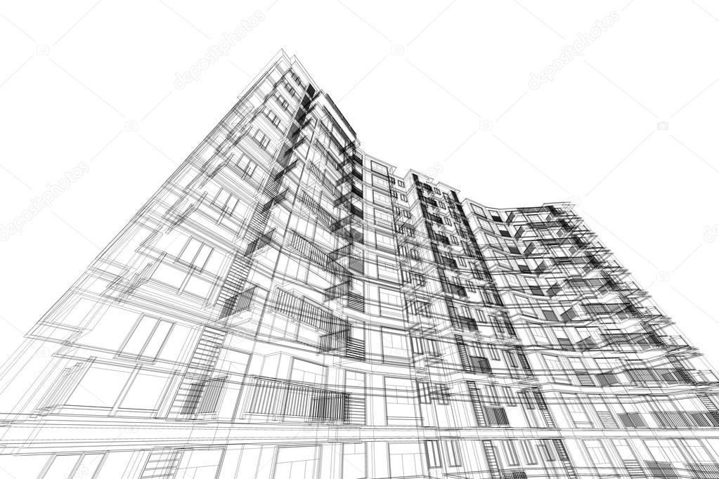 Hohe geb ude struktur abstrakt illustration architektur zeichnen stockfoto artintercool - Architektur zeichnen ...