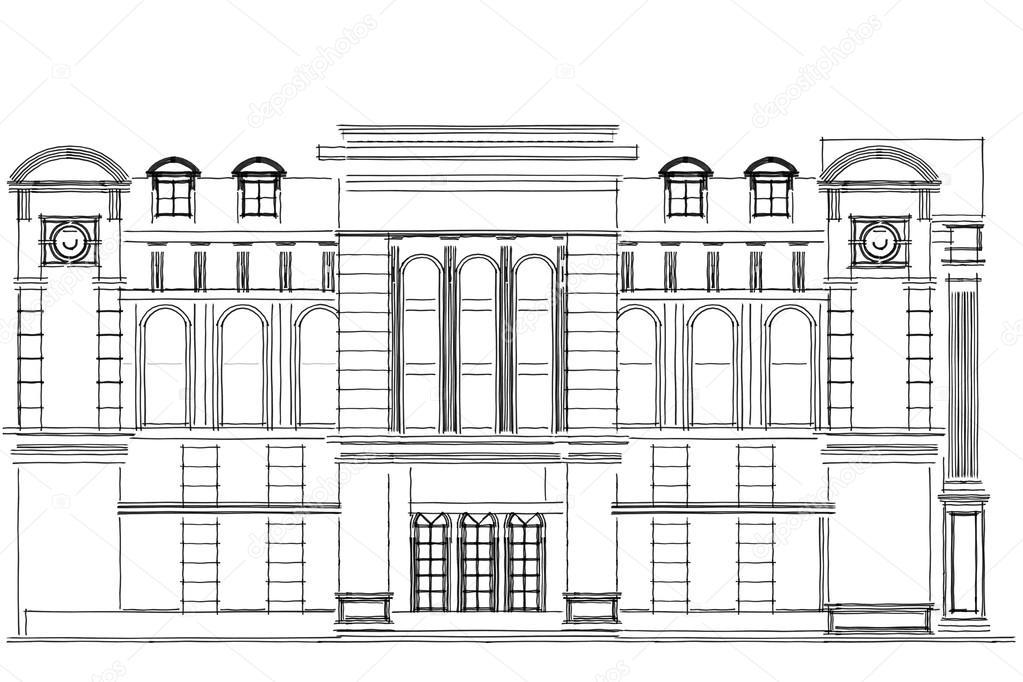 alto edificio estructura abstracta ilustraci n arquitectura dibujo foto de stock. Black Bedroom Furniture Sets. Home Design Ideas