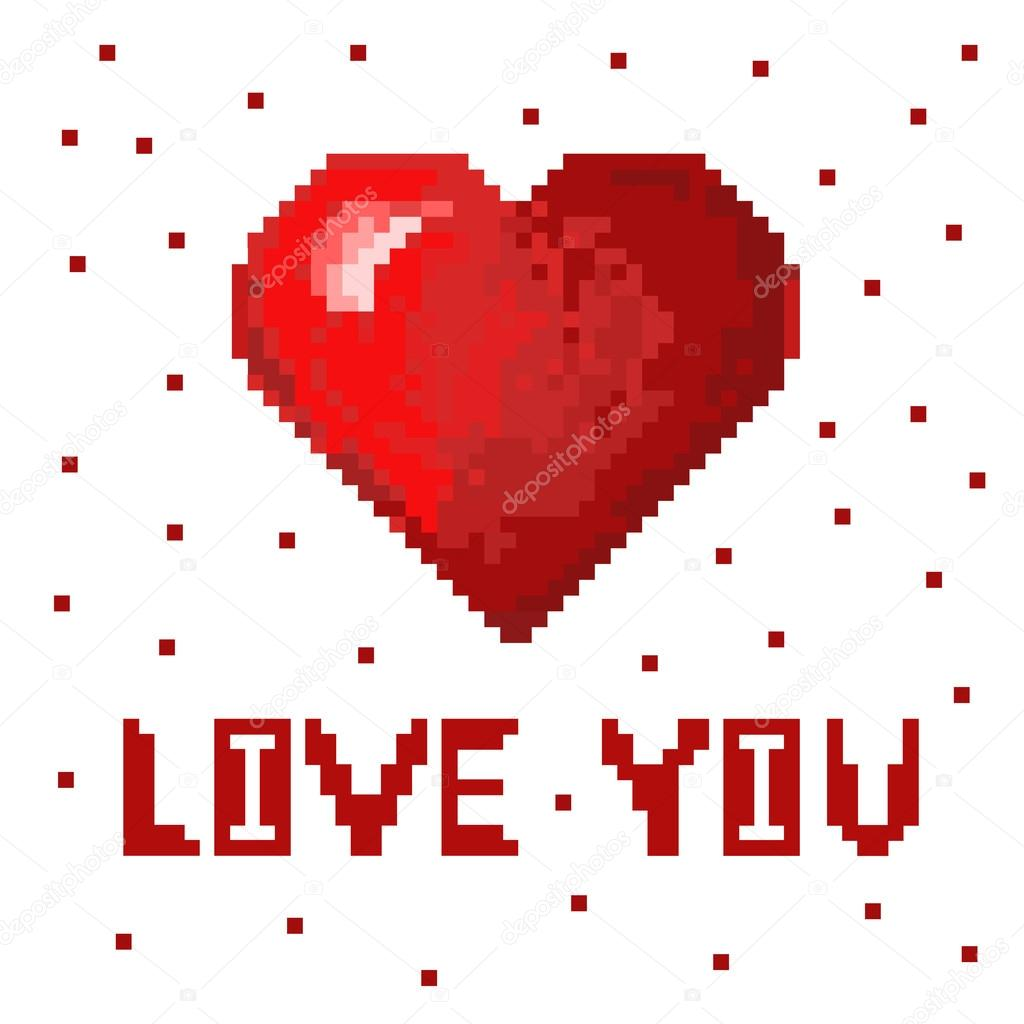 Red Volume Heart With Text Greeting Card I Love You