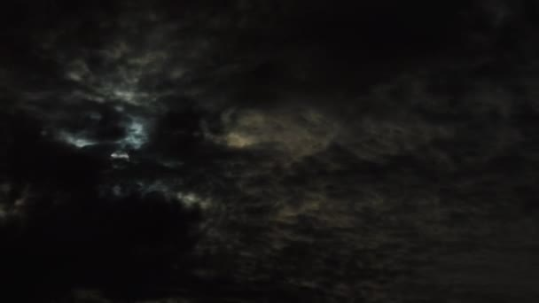 Night Clouds Moon time lapse