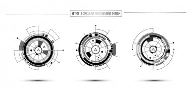 Circular digital technology hud elements