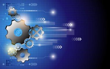 Digital technology innovation movement background