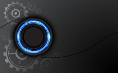 Abstract hi tech button background