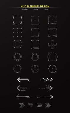 Set of hud elements collection