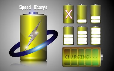 Speed charge battery alkaline