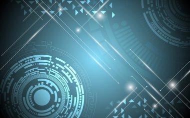 Rectangle digital electric spark background