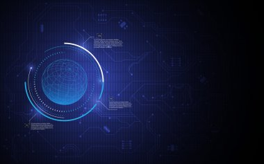 Globe futuristic technology innovation background