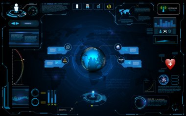 Hud interface global network connection