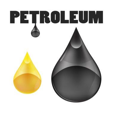 Petroleum oil drops