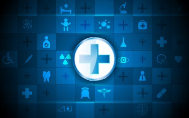Health care logos and medical icons