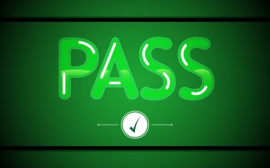 Abstract green pass sign