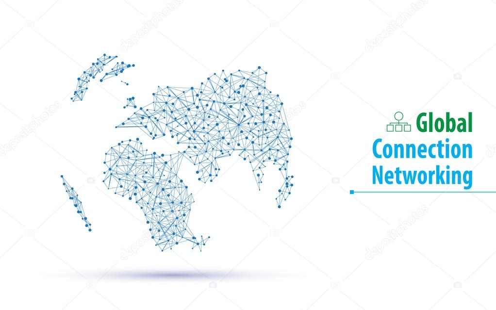 Networking technology innovation world map stock vector abstract global networking technology innovation world map design on white background vector by pixtumzhotmail sciox Images