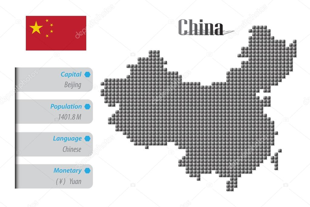 China map and info pixel design — Stock Vector © pixtumz@hotmail com