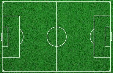 3d rendering soccer field background