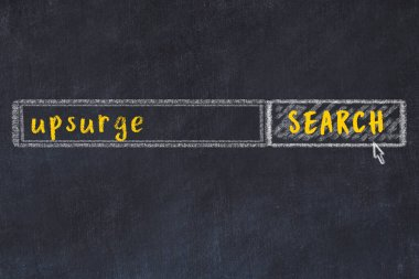 Search engine concept. Looking for upsurge. Simple chalk sketch and inscription