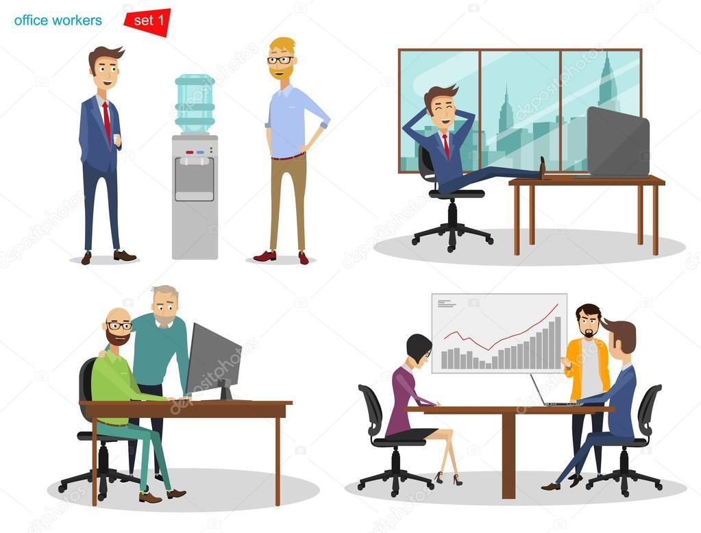 Imagenes De Personas Trabajando En Equipo: Dibujos: Personas En La Oficina
