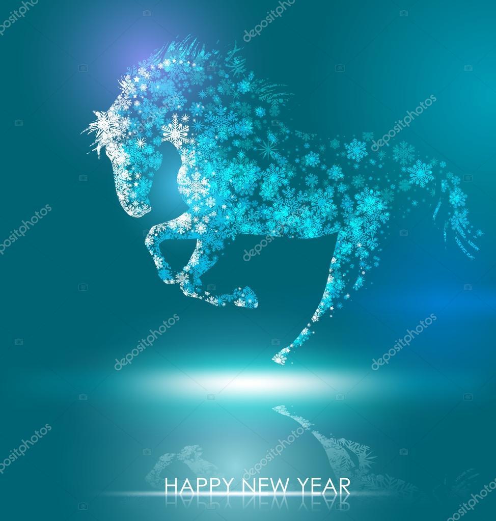 horse happy new year stock vector
