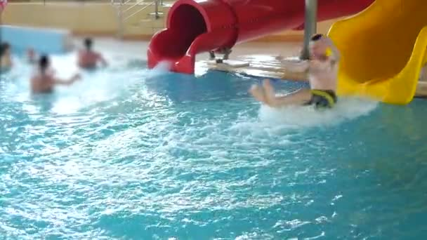 Happy Teen Have Fun On Aqua Park