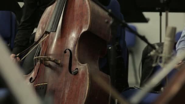 A színpadon szimfonikus zenekar