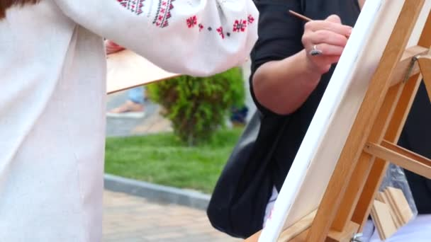 Painting It With Watercolors On Canvas
