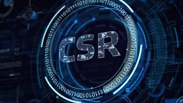 The concept of business, technology, the Internet and the network. Virtual screen of the future and sees the inscription: CSR