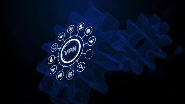 Internet, Wirtschaft, Technologie und Netzwerkkonzept. VPN-Netzwerk-Sicherheit Internet-Datenschutz-Verschlüsselungskonzept