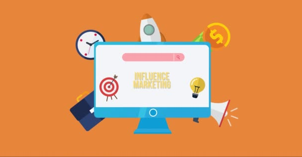 Internet, business, Technology and network concept. Influencer marketing concept.
