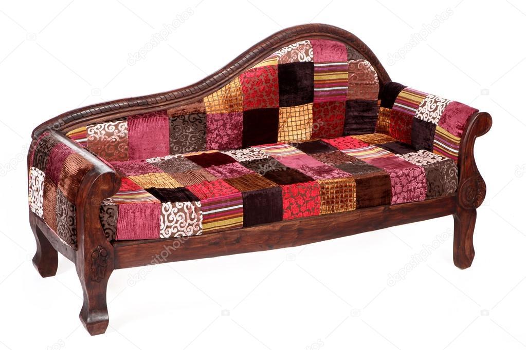 indiase traditionele interieur objecten en meubels gesoleerd op wh stockfoto