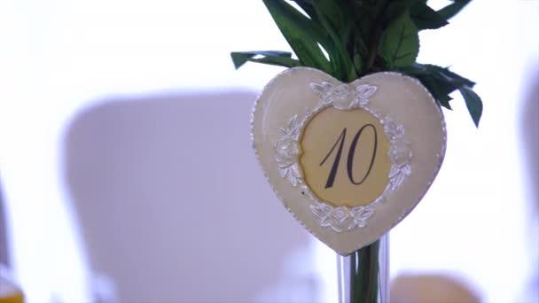 number ten in decorative hearts