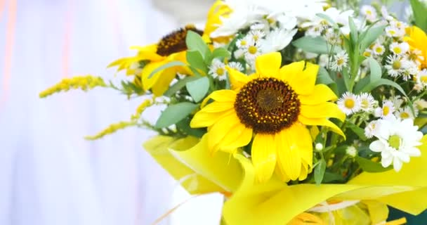 bouquet of yellow spring flowers.