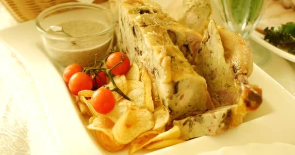 Grillezett csirkemell filé és zöldségek