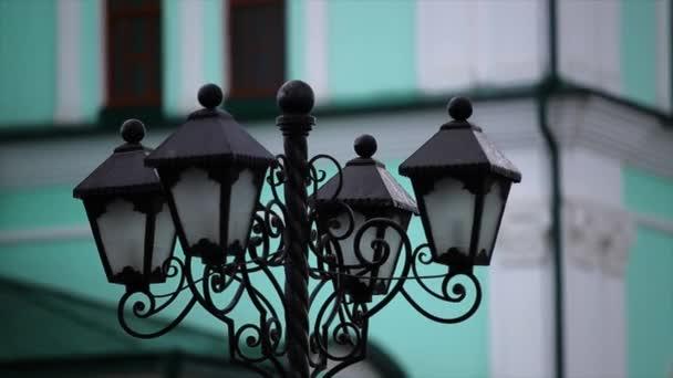 Vintage pouliční lampy zelené pozadí