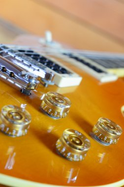Electric guitar  lespaul close up