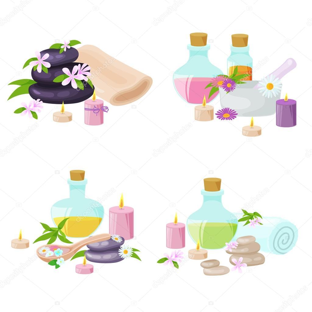 Spa towel and aroma oil spa symbols stock vector kirillgalkin spa towel and aroma oil spa symbols stock vector 120270714 buycottarizona