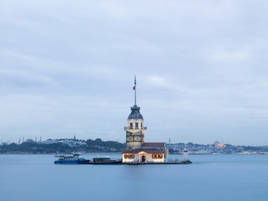 Maiden's Tower on Bosphorus in Istanbul, Turkey