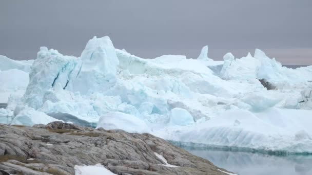 Glaciers are on the Ilulissat icefjord in Greenland