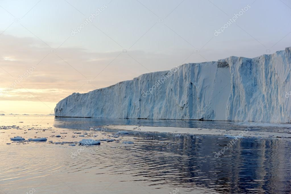 icebergs on the arctic ocean in the ilulissat icefjord, Greenland