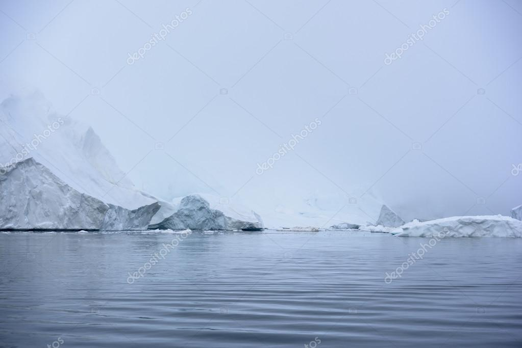 glaciers are on the arctic ocean at Ilulissat icefjord in Greenland