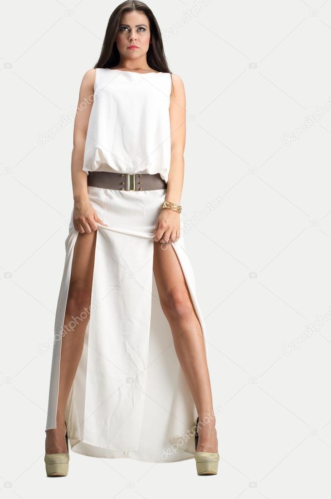 mooie lange witte jurken