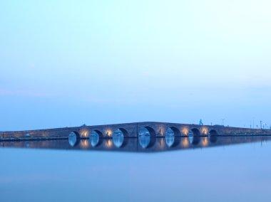 Bridge made by Ottoman Architecture Sinan at Buyukcekmece, Istanbul.
