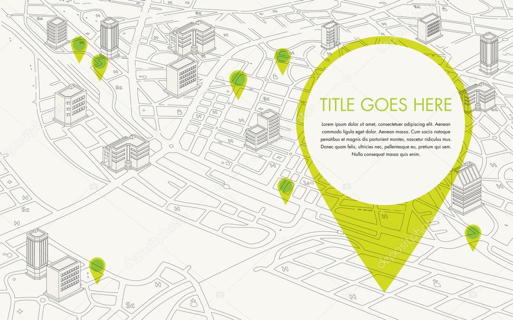 Digital city map