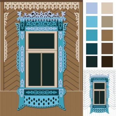 russian wood window