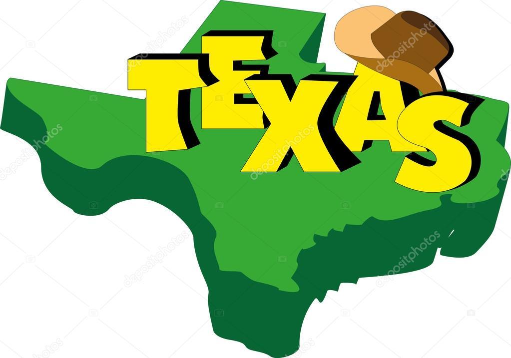 3d Map Of Texas.Cartoon Map Of Texas Texas Map In Cartoon Style Stock Vector